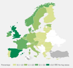 consumo de cocaína en paises europeos