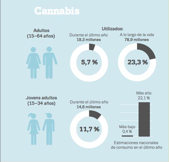 Consumo de cannabis en España y Europa